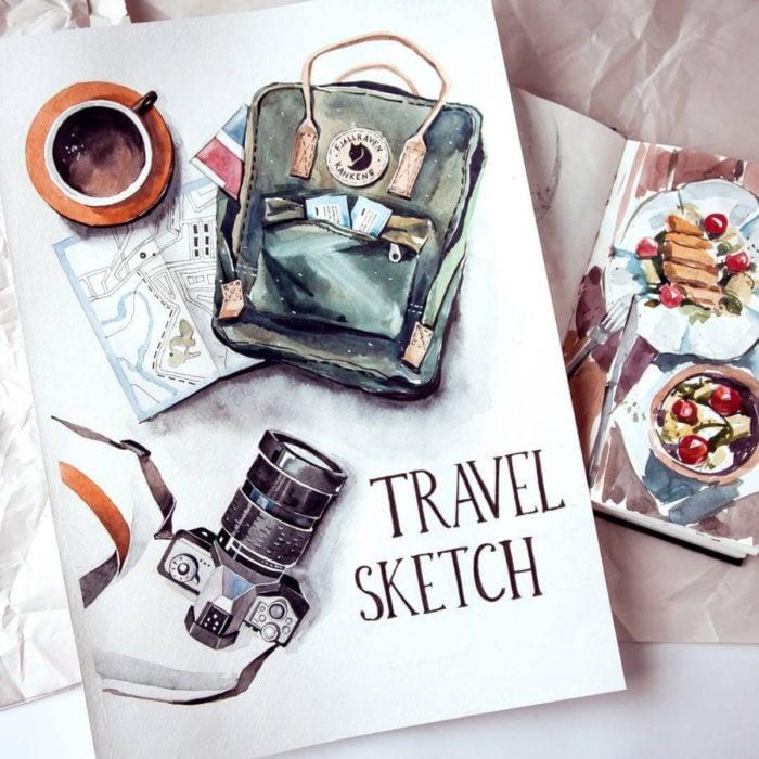 Ideas creativas para llevar un diario o libreta de viaje