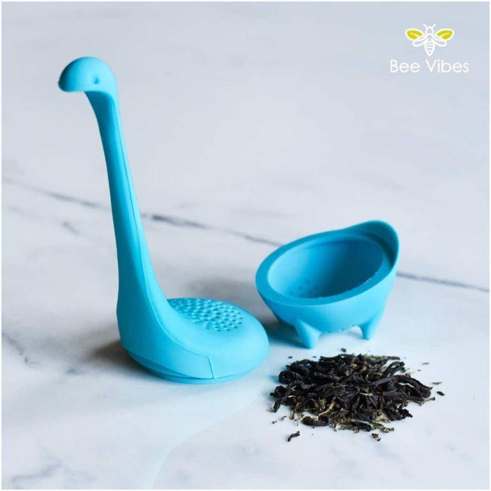 Infusor de té en forma de dinosaurio