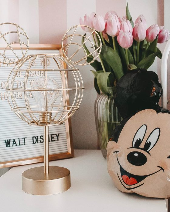 Lamp in the shape of Mickey's head