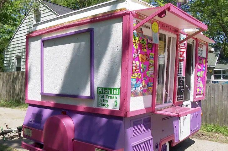 Camioneta de I'sis candy shop