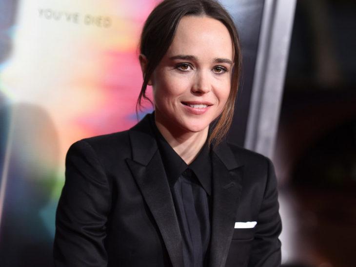 Ellen Pagedurante una alfombra roja