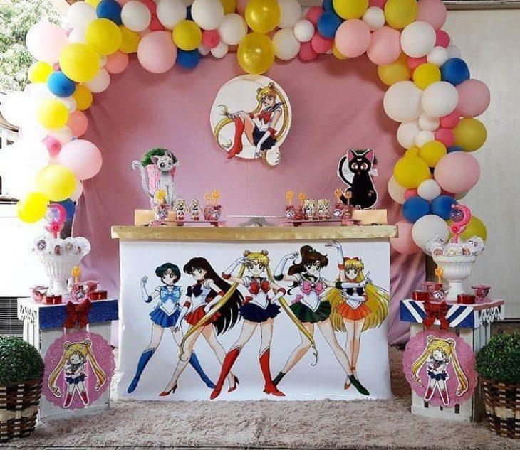 Mesa de dulces de Sailor moon