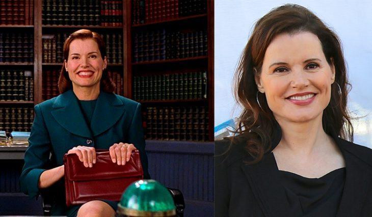 Antes y después de Geena Davis