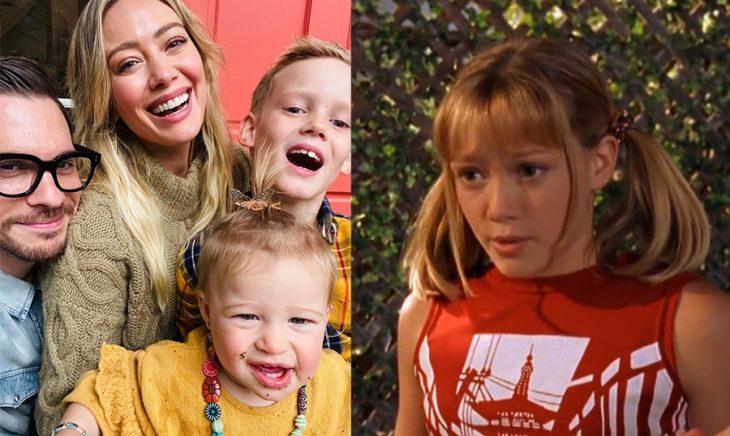 Hilary Duff cuando actuaba en su adolescencia y ahora que tiene hijos