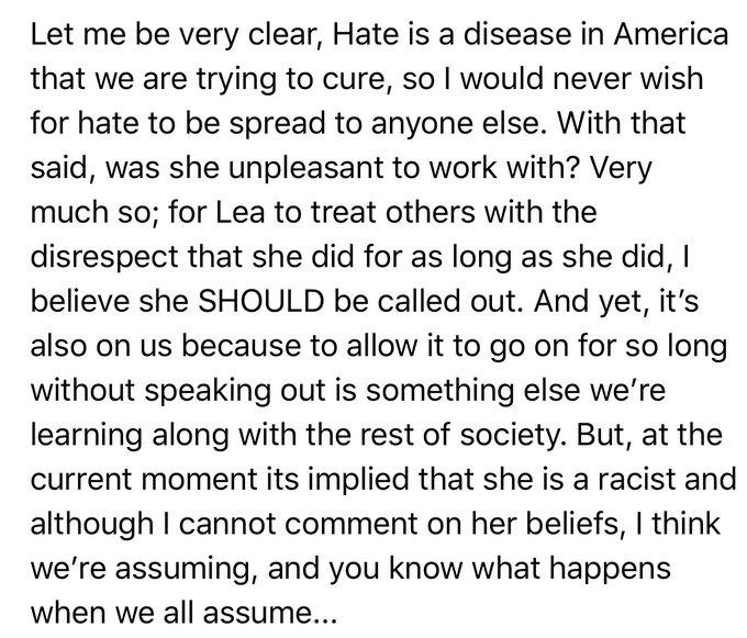 Lea Michele racista