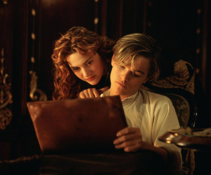 Leonardo DiCaprio con Kate Winslet, Titanic