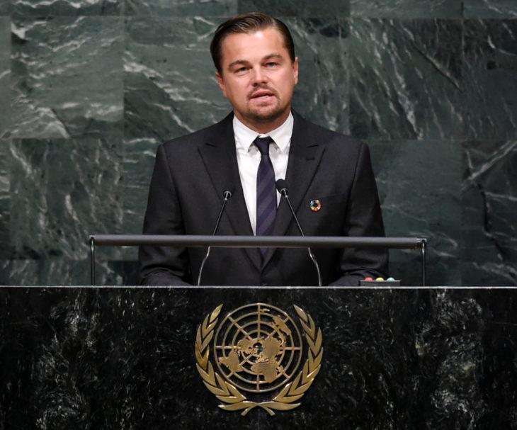Leonardo DiCaprio en conferencia
