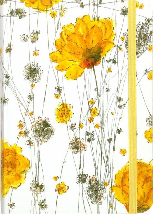 Libreta de pasta dura decorada con flores