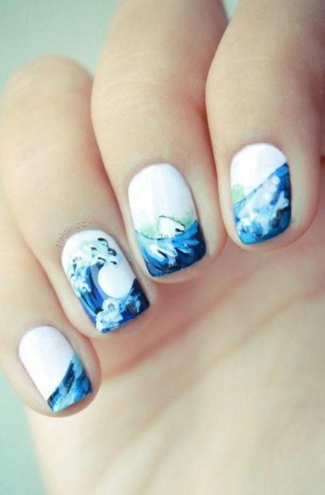 Manicura inspirada en el mar