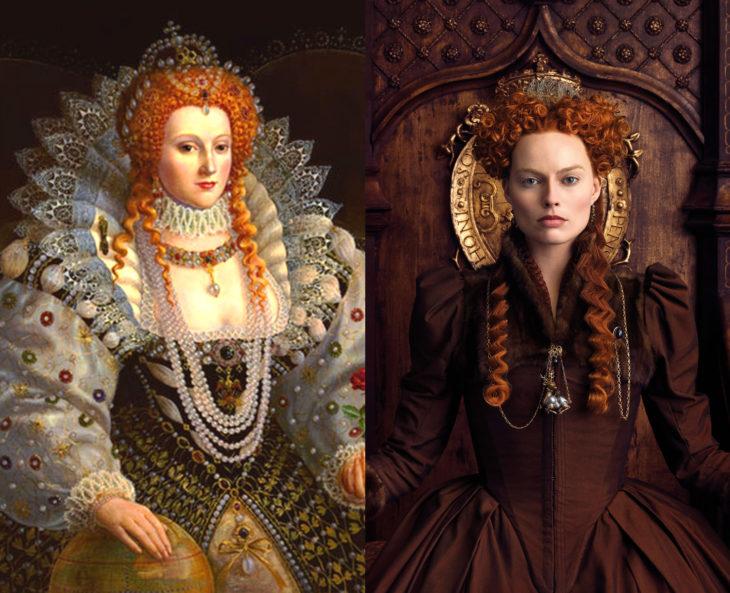 Mujeres en la historia en películas y en la vida real; Isabel I, Margot Robbie