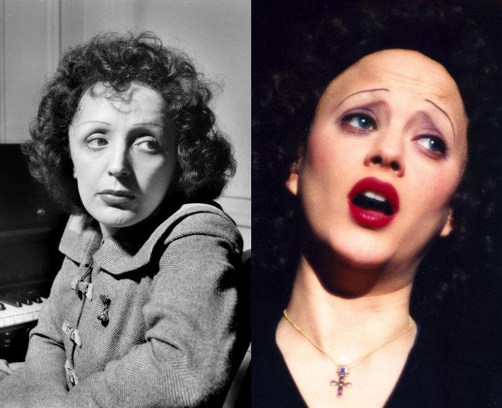 Mujeres en la historia en películas y en la vida real; Édith Piaf, Marion Cotillard