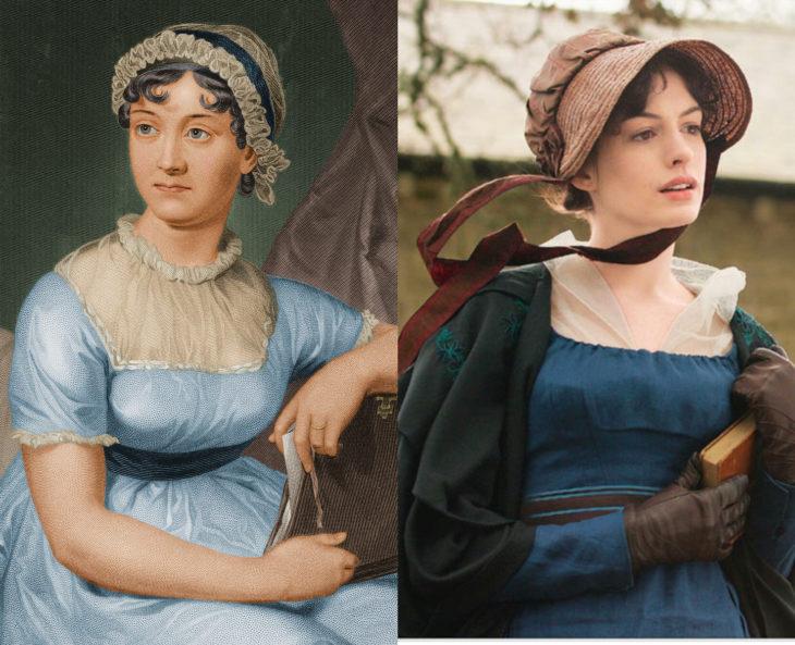 Mujeres en la historia en películas y en la vida real; Jane Austen, Anne Hathaway