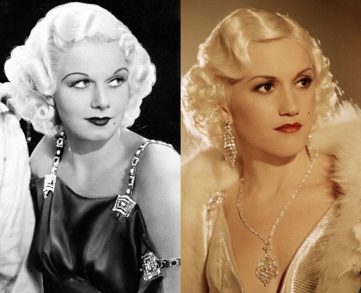 Mujeres en la historia en películas y en la vida real; Jean Harlow, Gwen Stefani