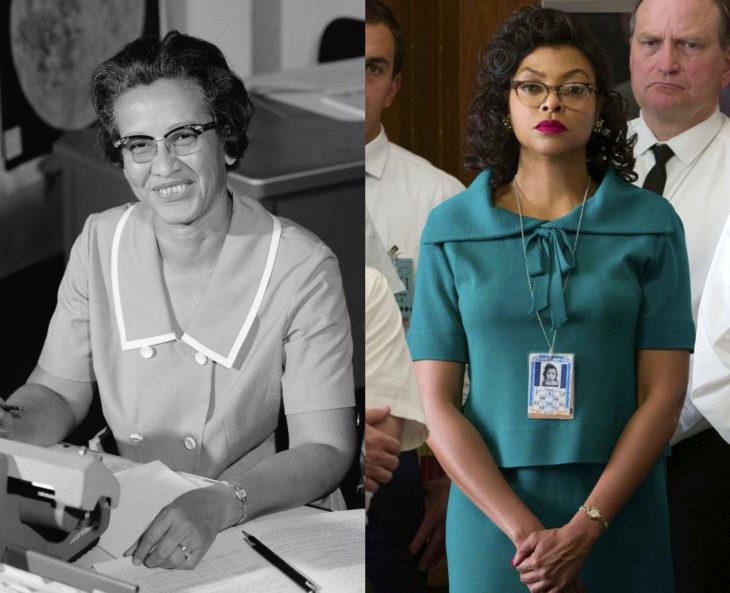 Mujeres en la historia en películas y en la vida real; Katherine Johnson, Taraji P. Henson