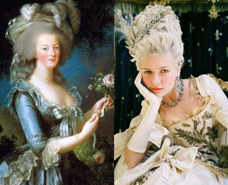 Mujeres en la historia en películas y en la vida real; María Antonieta, Kirsten Dunst