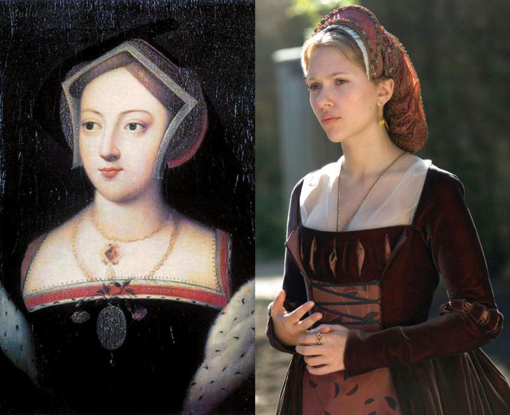 Mujeres en la historia en películas y en la vida real; María Bolena, Scarlett Johansson