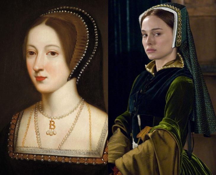 Mujeres en la historia en películas y en la vida real; Ana Bolena, Natalie Portman