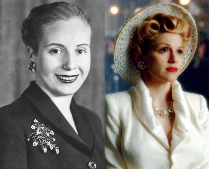 Mujeres en la historia en películas y en la vida real; Eva Perón, Madonna