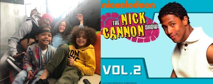 Nick Cannon cuando actuaba en su adolescencia y ahora que tiene hijos