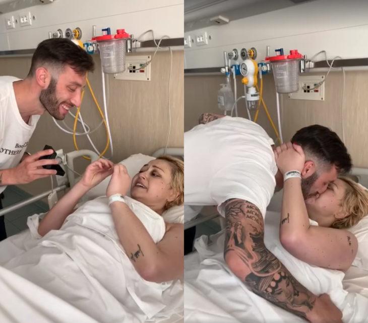 Novio le pide matrimonio a su novia en el hospital