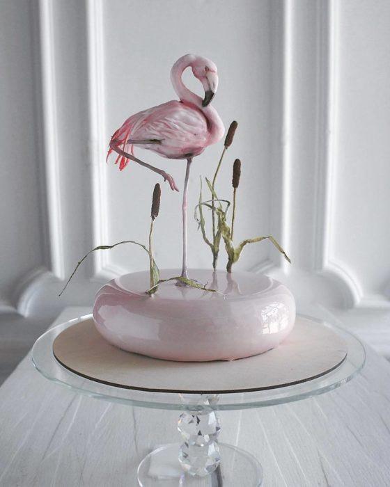 Pastel de flamingo