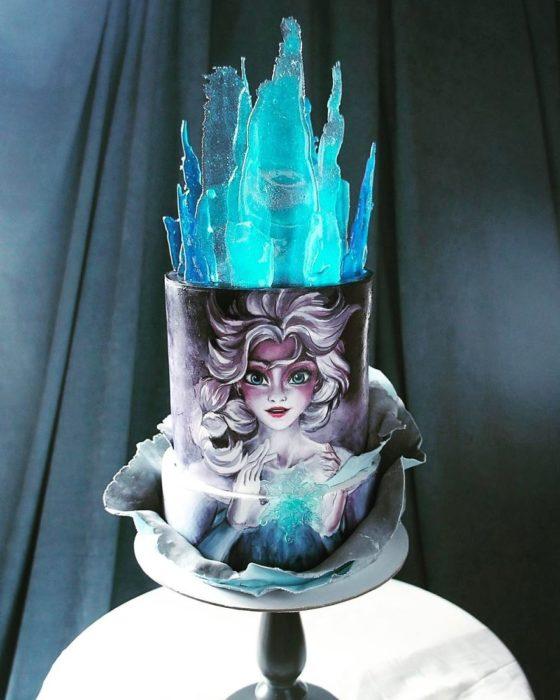 Pastel de Elsa de Frozen
