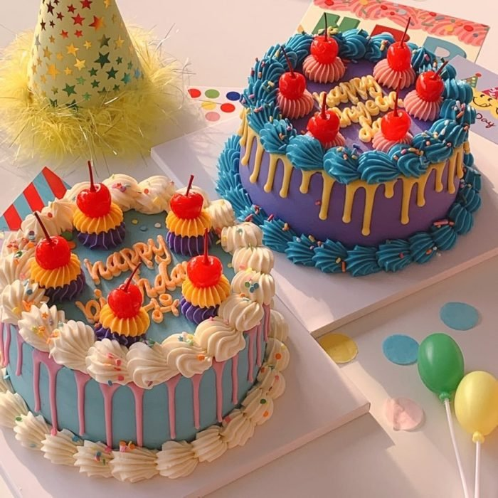 Pastel de cumpleaños kawaii