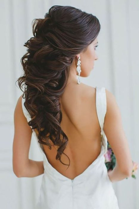 Fluffy bridal hairstyle
