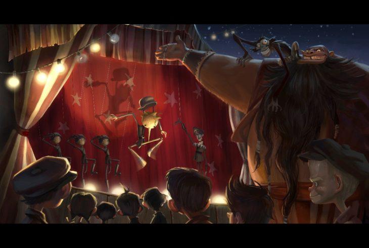 Marionetas de la película de Pinocchio en stop motion