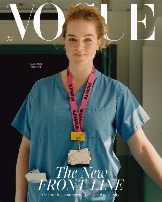 Rachel Millar, medico obstetra, en la portada de Vogue