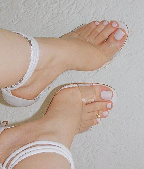 Woman's feet with pedicure