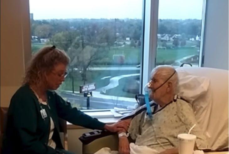 Brenda y Robert Olsen en el hospital