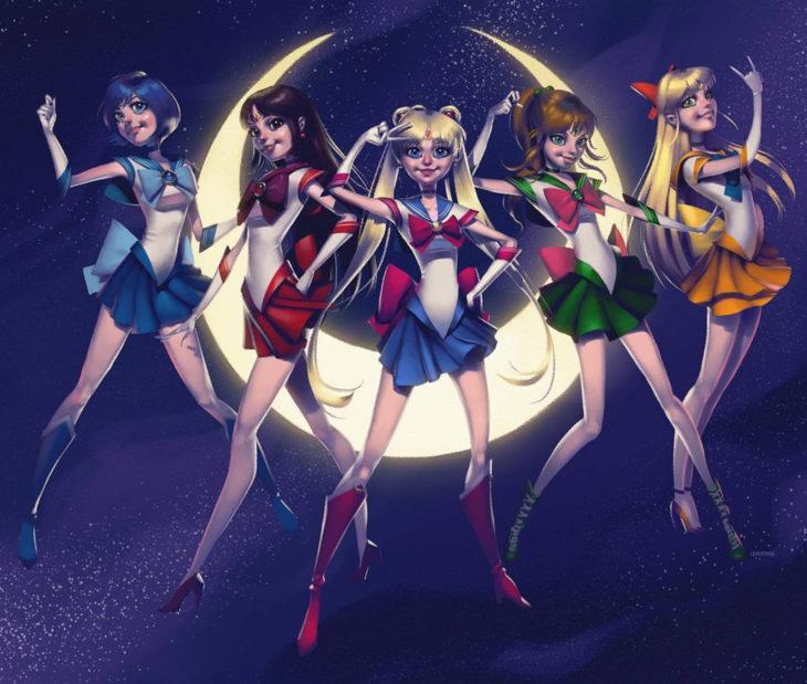 Leandro Franci ilustrador; artista hace ilustración digital de Sailor Moon