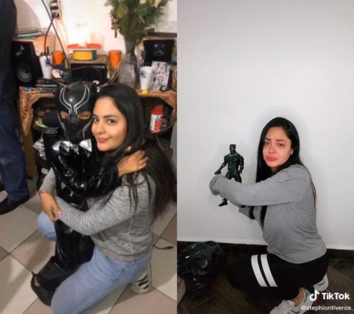 Challenge triste de TikTok; foto antes y después con ser querido que ya no está; mamá a hijo