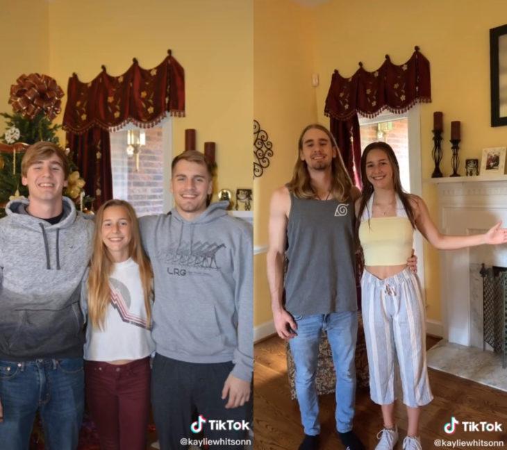 Challenge triste de TikTok; foto antes y después con ser querido que ya no está; hermanos
