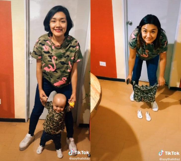 Challenge triste de TikTok; foto antes y después con ser querido que ya no está; mamá e hijo