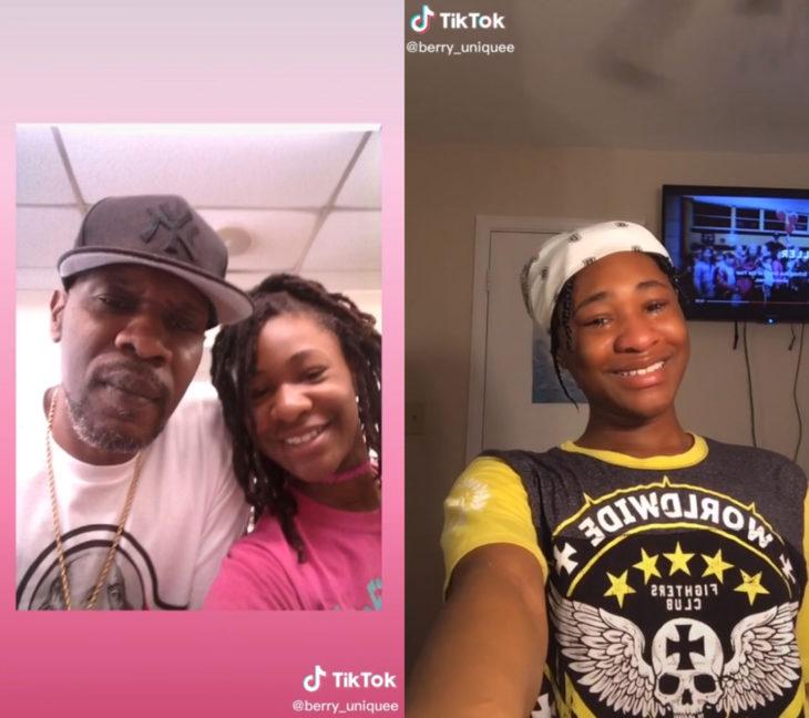 Challenge triste de TikTok; foto antes y después con ser querido que ya no está; papá e hija
