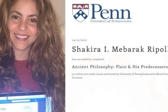 Shakira se gradúa de literatura