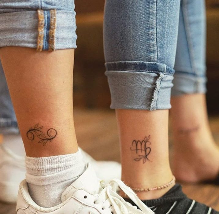 Tattoos to share with your best friend in the form of zodiac signs