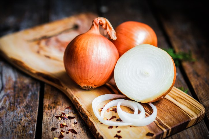 Sliced ​​onion