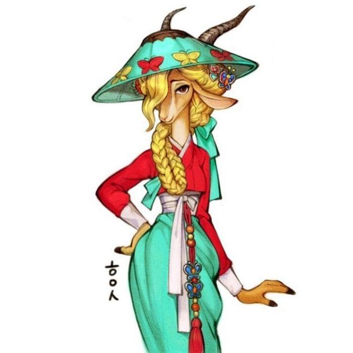 Ilustración digital de Gazelle de Zootopia