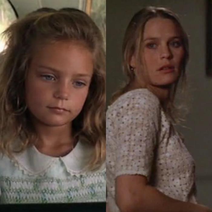 Hannah R. Hall interpreta la versión más joven de la actriz Robin Wright