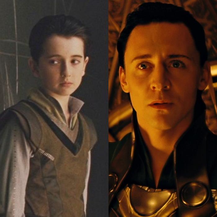 Ted Allpress interpreta la versión joven del actor Tom Hiddleston.
