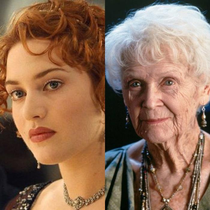 Kate Winslet interpreta la versión más joven de la actriz Gloria Stuart