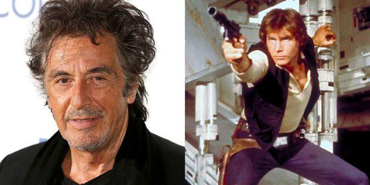 Al Pacino y Harrison Ford como Han Solo