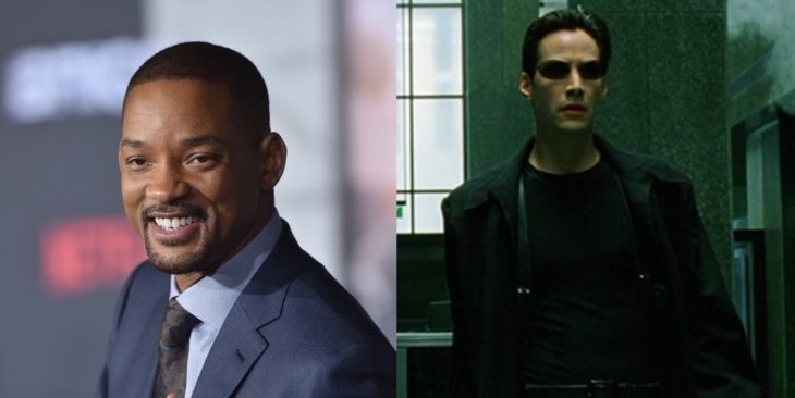 Will Smith y Keanu Reeves como Neo