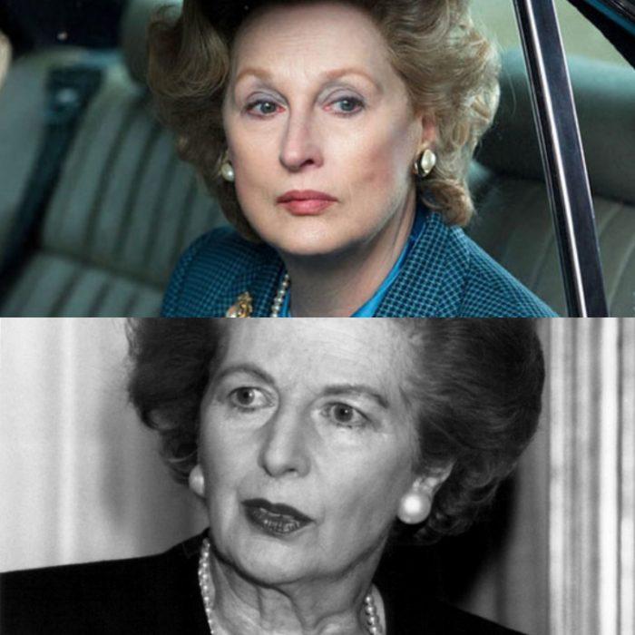 la actriz meryl streep como margaret thatcher en la dama de hierro