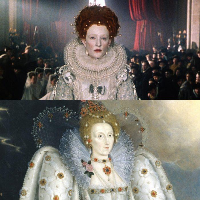 actriz cate blanchett como la reina isabel I