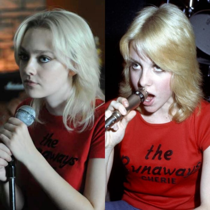 dakota fanning como cherie currie en la pelicula de the runaways