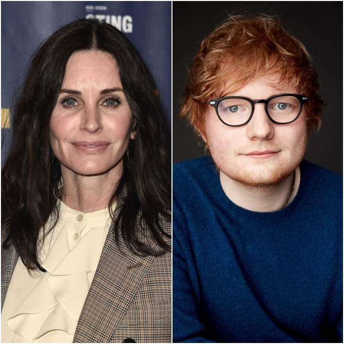 courteney cox y ed sheeran